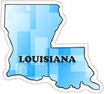 State of Louisiana Magnets